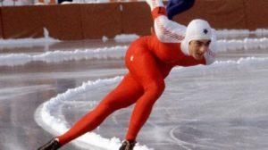 Canada's Gaetan Boucher participates in a speed skating event at the 1984 Winter Olympics in Sarajevo. (CP PHOTO/COC/O. Bierwagon) Gaétan Boucher du Canada participe au patinage de vitesse longue piste aux Jeux olympiques d'hiver de Sarajevo de 1984. (Photo PC/AOC)